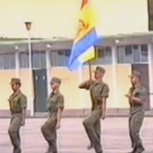 香港少年領袖團1996年第一屆學員畢業會操 (5s)