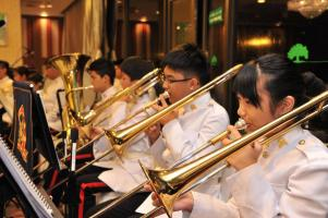 HKAC band in Foundation Day Dinner service